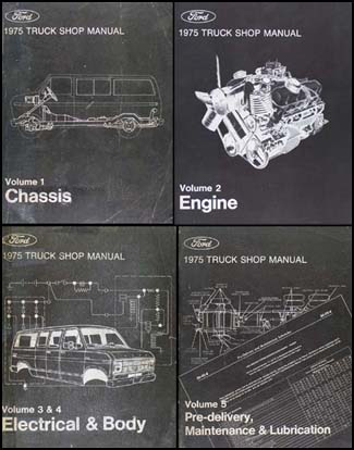 1975 ford f100 f350 pickup truck repair shop manual and wiring related items