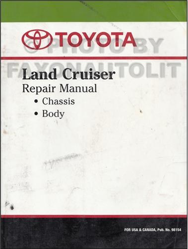 1976-1980 Toyota Land Cruiser Chassis Repair Manual Original No. 98154