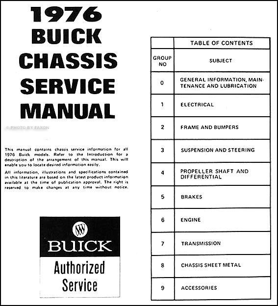 1976 buick repair shop manual original all models rh faxonautoliterature com 1967 Buick Skylark 1978 Buick Skylark