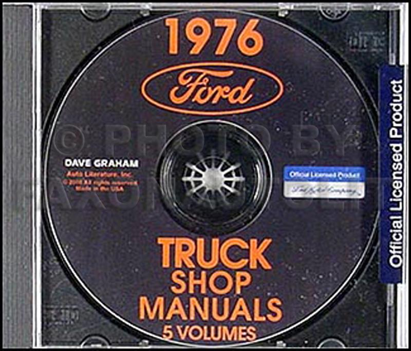 1976 Ford Truck Repair Shop Manual CD ROM for Pickup, Bronco, Van, big trucks