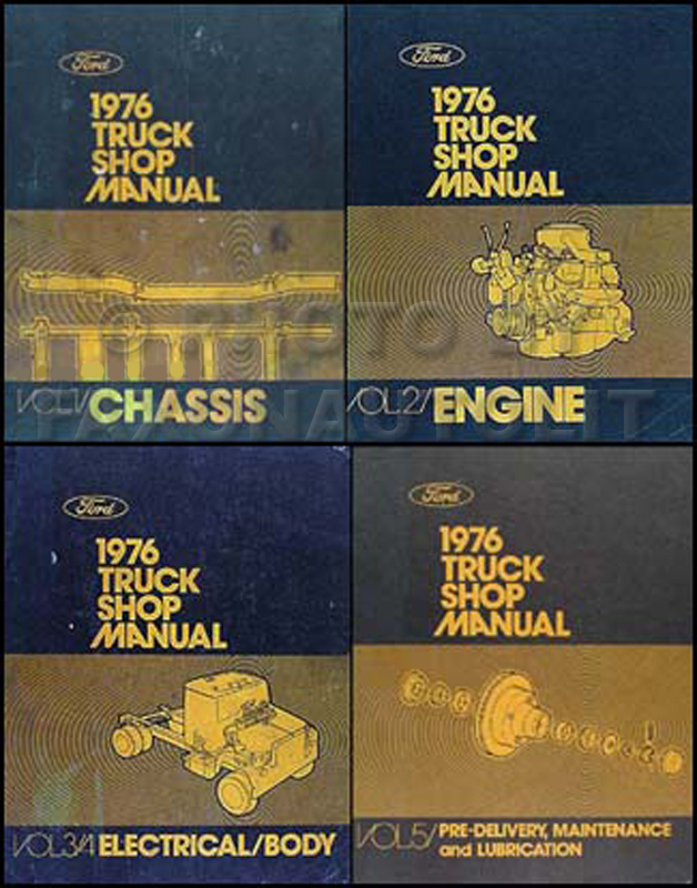 1976 Ford Truck Service Specifications Manual