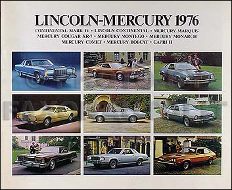 1976LincolnMercuryOSL 1976 lincoln mark v continental mercury sales brochure original 1969 Lincoln Wiring Diagram at reclaimingppi.co