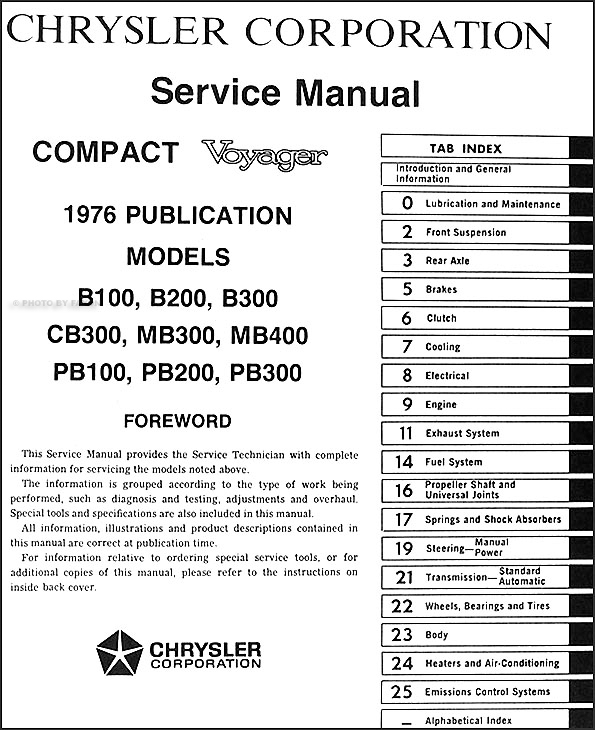1976 dodge plymouth van repair shop manual sportsman tradesman rh faxonautoliterature com 1977 Dodge Coachman Motorhome 1976 Dodge Motorhome Specs