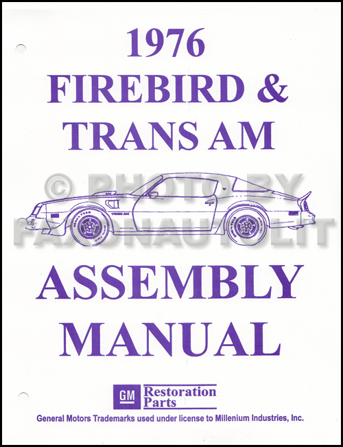 1976PontiacFirebirdRAM 1976 pontiac firebird and trans am assembly manual reprint 1980 Firebird Formula at soozxer.org