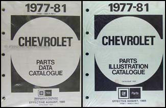1977-1981 Chevy Car Canadian Illustrated Parts Catalog Set Original