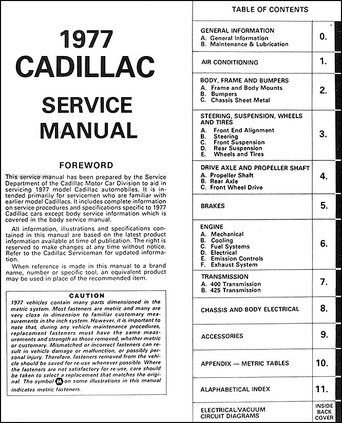 1977CadillacORM TOC cadillac eldorado wiring schematic cadillac wiring diagram El Dorado Movie at readyjetset.co
