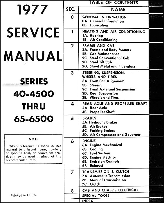 1977ChevMDTORM TOC 1977 chevrolet medium duty truck repair shop manual original  at n-0.co