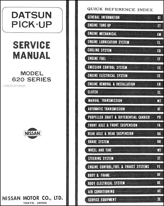 1977 Datsun Pickup Truck Repair Shop Manual Original