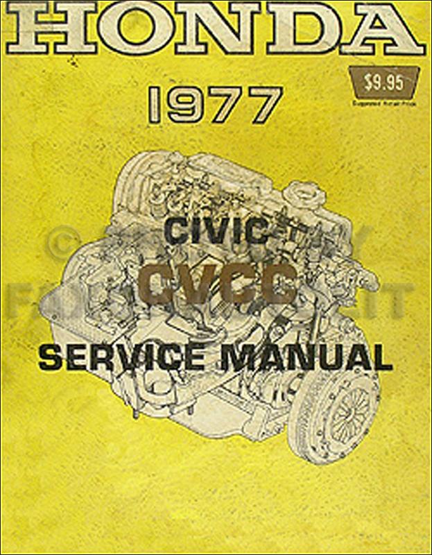 1977 honda civic cvcc repair shop manual original 1976 Ford F 150 Wiring Diagram