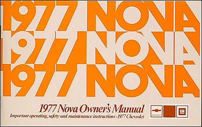 1977 chevy nova and concours foldout wiring diagrams 1977 chevy nova owner s manual reprint rally concours