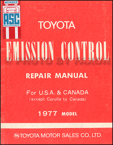 1977-1977.5 Toyota Emission Control Repair Manual Original No. 98159