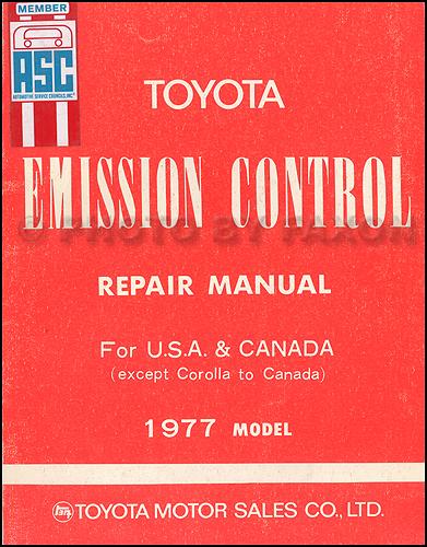 1977-1977.5 Toyota Emission Control Repair Manual Original No. 98159