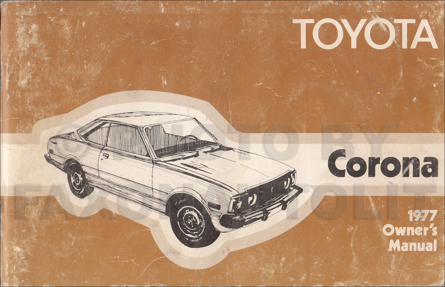 Early 1977 Toyota Corona Owner U0026 39 S Manual Original Rt 105 Rt