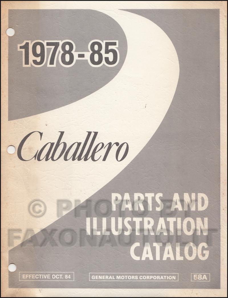 1985 Caballero El Camino Monte Carlo Wiring Diagram