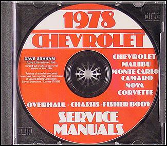 1978 Chevy Malibu and Monte Carlo Foldout Wiring Diagram ...