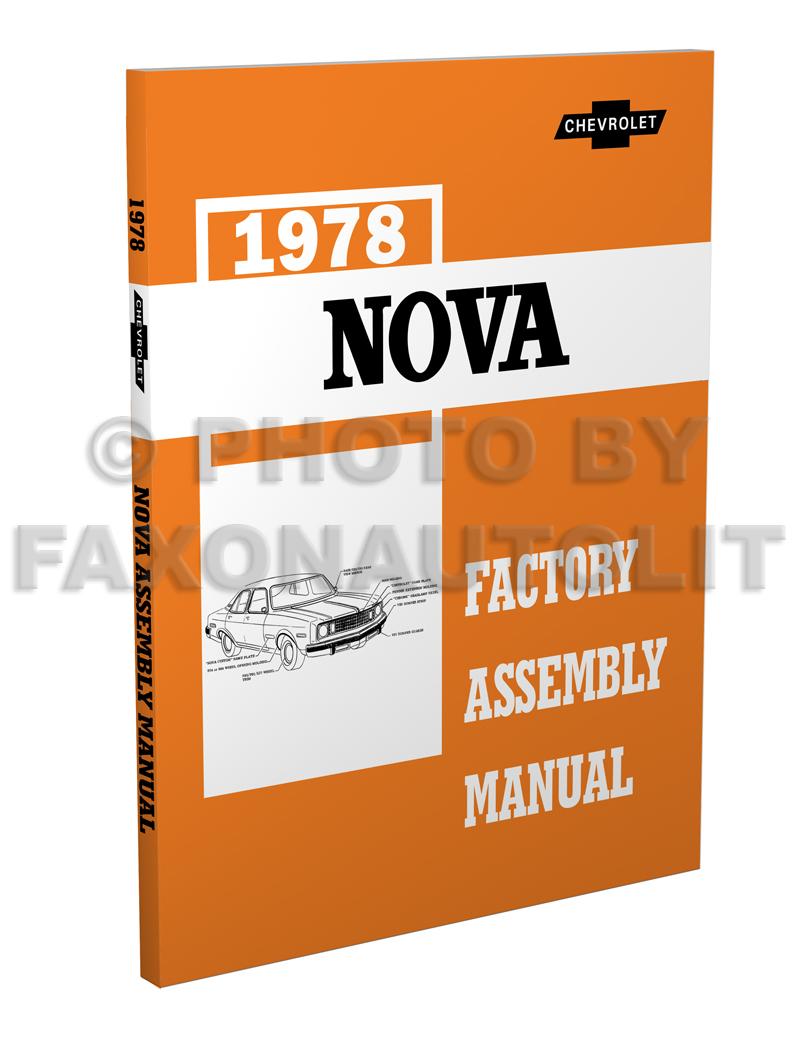 1978 Chevy Nova Foldout Wiring Diagrams Original