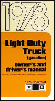 1978 chevrolet 1 ton truck owner s manual reprint pickup rh faxonautoliterature com 1989 Blazer 1986 Blazer