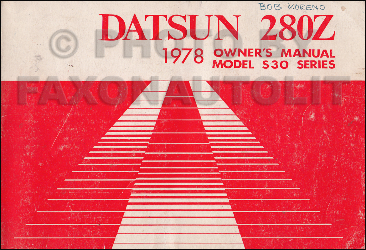 1978 datsun 280z owner s manual original rh faxonautoliterature com datsun 280z repair manual nissan 280zx service manual