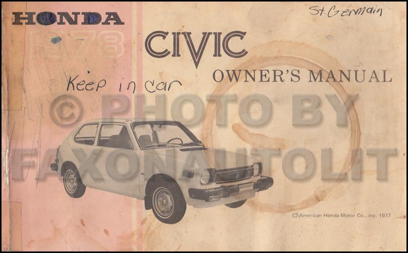 1978 honda civic 1200 owners manual original oem owner for 2017 honda civic owner s manual
