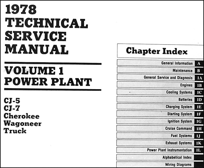 1978JeepORM TOC1 1978 jeep repair shop manual original all models 3 volume set 1978 Corvette Wiring Diagram at webbmarketing.co