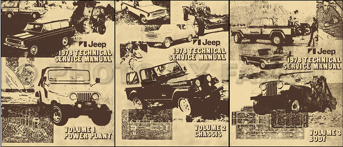 1978 Jeep Shop Manual Cj Cherokee Wagoneer J10 J20 Truck