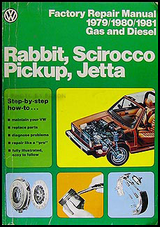 1979-1981 VW Rabbit, Scirocco, Pickup, Jetta FACTORY Repair Manual
