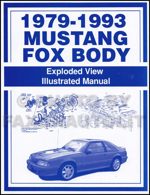 1979-1993 Ford Mustang Parts Illustration Manual Reprint