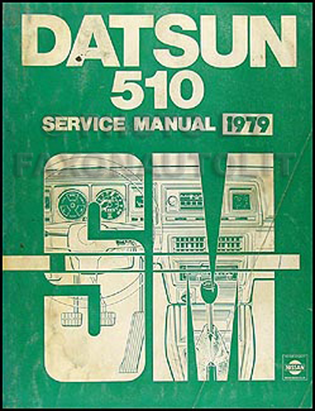 1979 Datsun 510 Repair Shop Manual Original border=