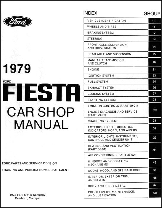 1979 ford fiesta repair shop manual original 1979 ford fiesta repair manual original table of contents asfbconference2016 Image collections