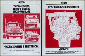 ford f service manuals shop owner maintenance and repair 1979 ford medium heavy truck repair manual 2 volume set original