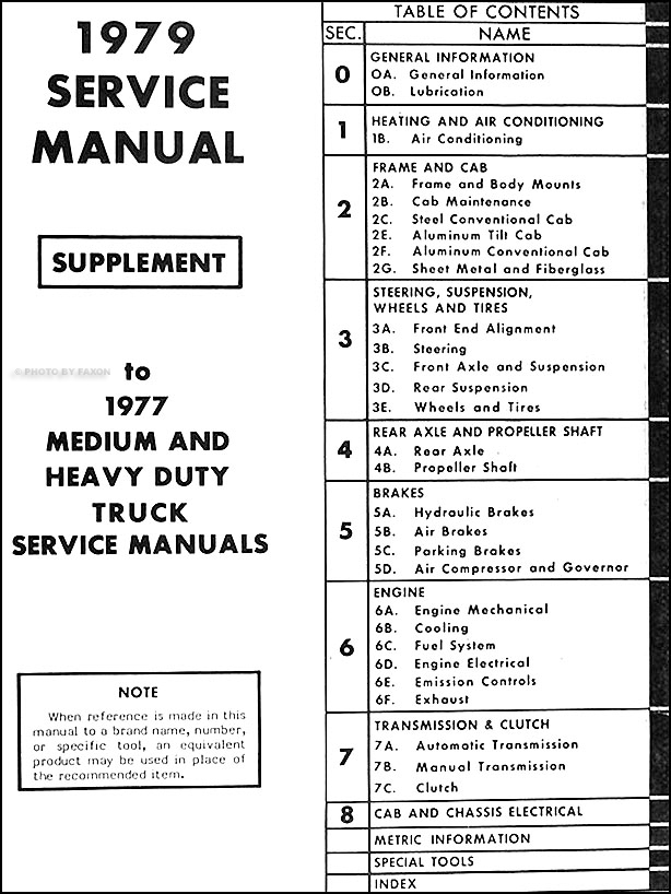 1979GMMHDTORMS TOC 1979 gmc (or use for chevy) 4500 9500 repair shop manual original 1979 Pontiac Wiring Diagram at n-0.co