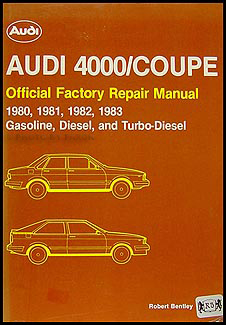 1980-1983 4000 and Audi Coupe Bentley Repair Shop Manual Audi