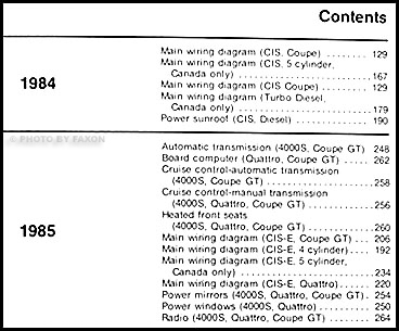 1980-1985 4000 and audi coupe wiring diagram manual original 1930 ford coupe wiring diagram