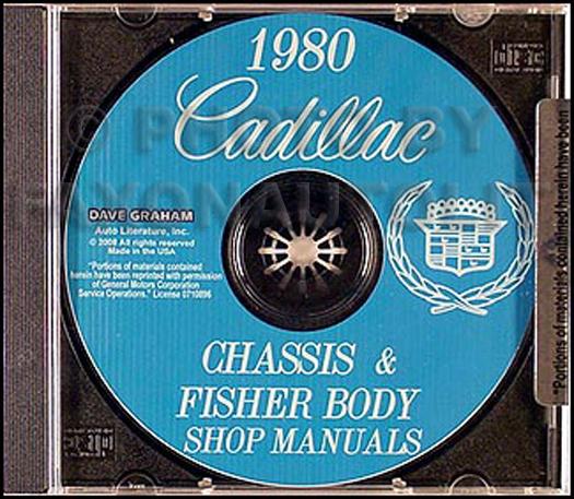 1980 Cadillac Shop Manual and Body Manual on CD-ROM