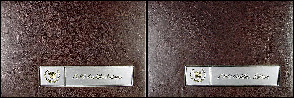 1980 Cadillac Color and Upholstery Dealer Albums 2 Book Set Large Size