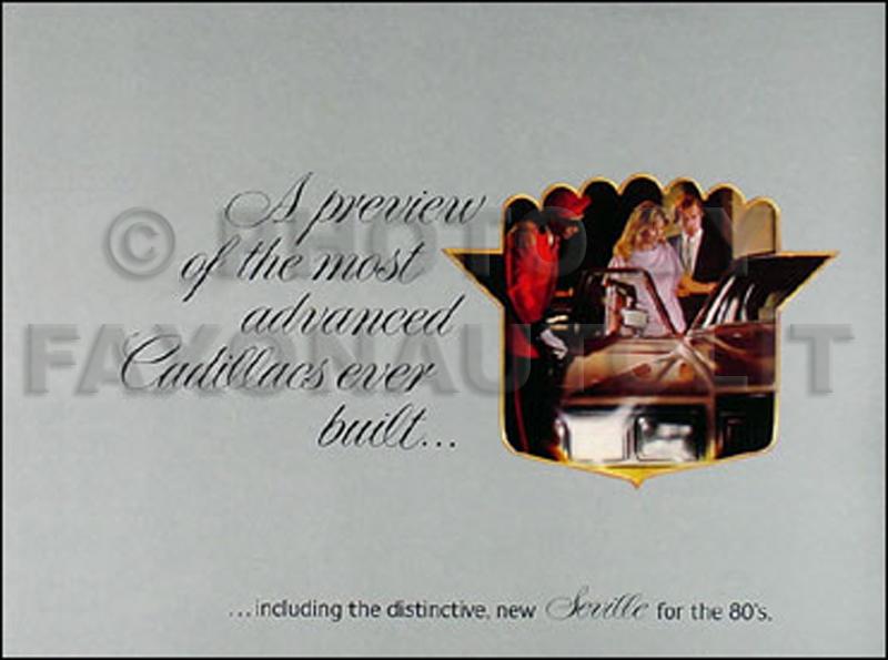1980 Cadillac Preview the Most Advanced Original Sales Catalog