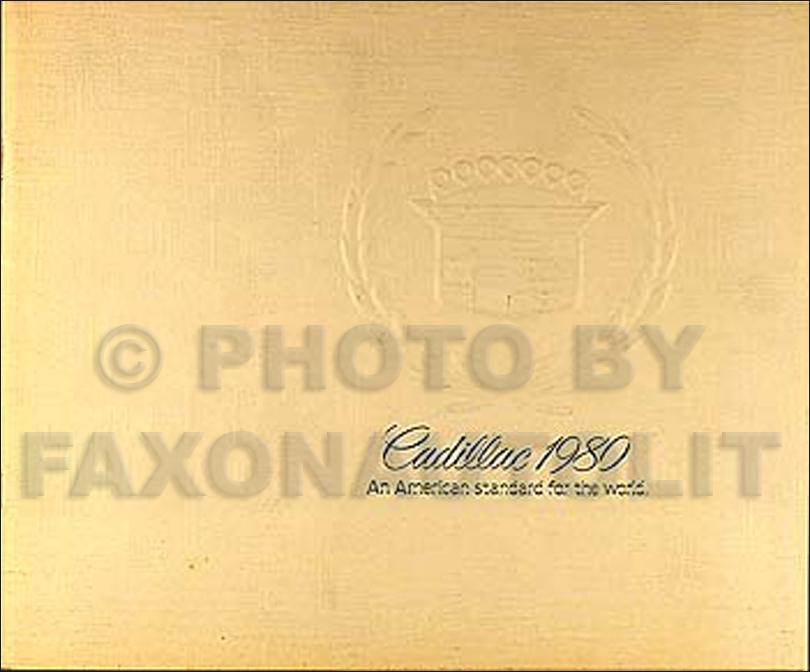 1980 Cadillac Color Sales Catalog Original