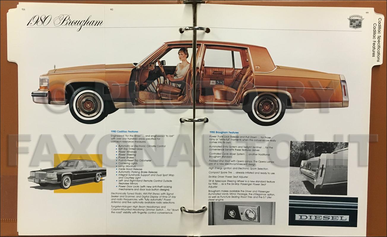 1980 cadillac competitive comparison guide original dealer album rh faxonautoliterature com 1990 Cadillac 1989 Cadillac