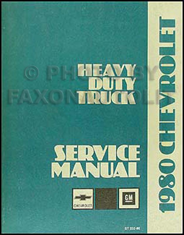 1980 GMC Heavy Duty Repair Shop Manual 8000 9500 Astro General