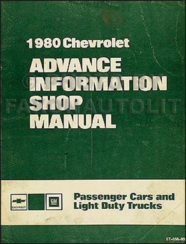 1980 Chevrolet Advance Information Preliminary Repair Shop Manual