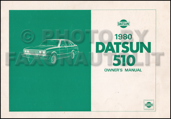 1980 Datsun 510 Repair Shop Manual Original border=