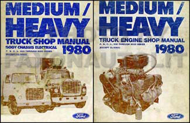ford f service manuals shop owner maintenance and repair 1980 ford f b c l 600 9000 medium and heavy truck
