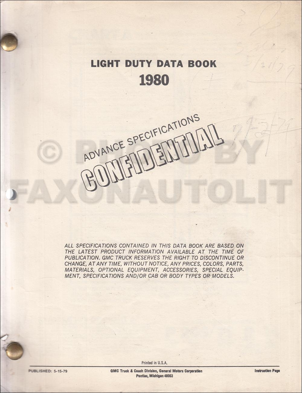 1980 Gmc Chevy Ck Wiring Diagram Original Pickup Suburban