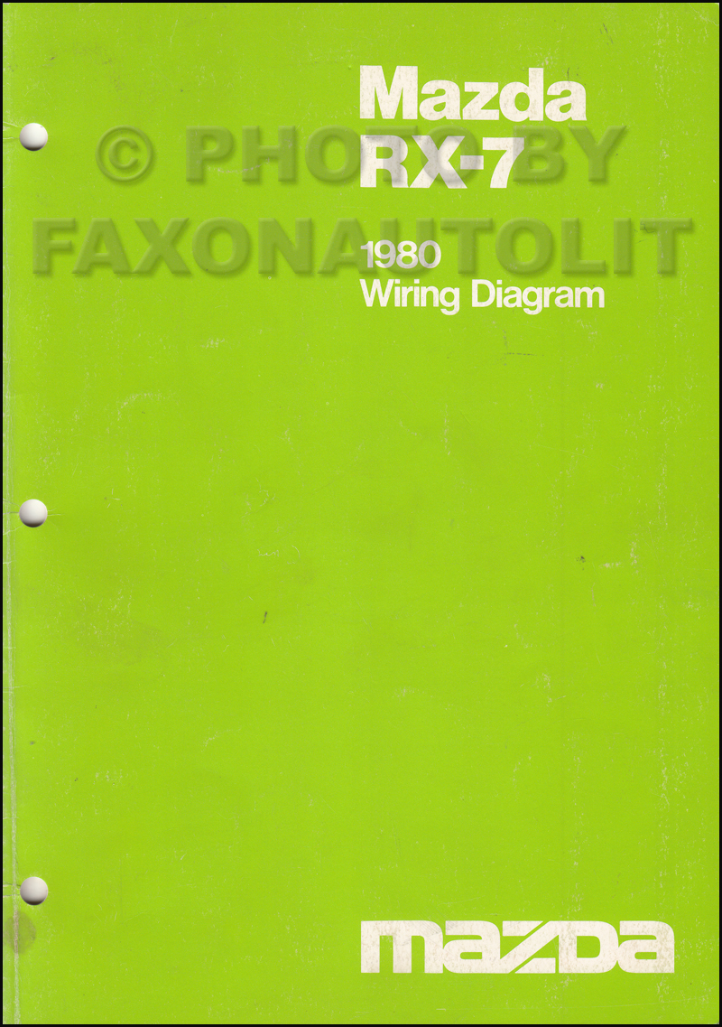 1980 mazda rx 7 wiring diagram manual original