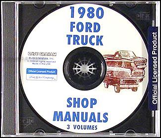 1980    Ford       Truck    Repair Shop Manual Econoline Van F100F150F350 Bronco Set