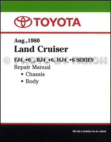 toyota land cruiser bj electrical wiring diagram original  1981 1983 toyota land cruiser chassis repair shop manual factory reprint 149 00