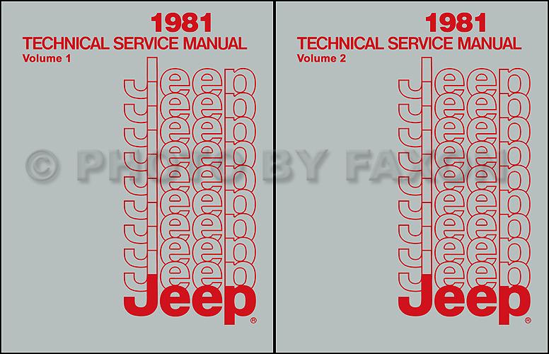 1981 jeep repair shop manual reprint all models 2 volume set rh faxonautoliterature com 2011 Jeep Patriot Repair Manual Jeep Repair Diagrams