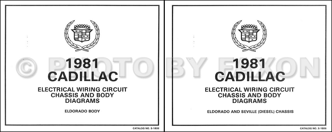 1981 Cadillac Eldorado Diesel Wiring Diagram Color Set Oem