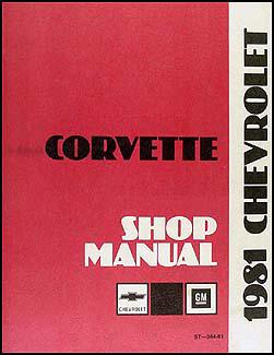 1981 Corvette Shop Manual Original