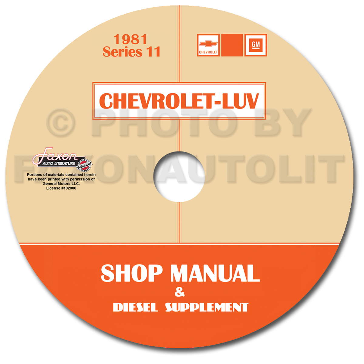 1981 Chevy Luv Diesel Engine Repair Shop Manual Original